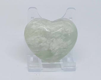 New Jade Heart - Serpentine Crystal Heart