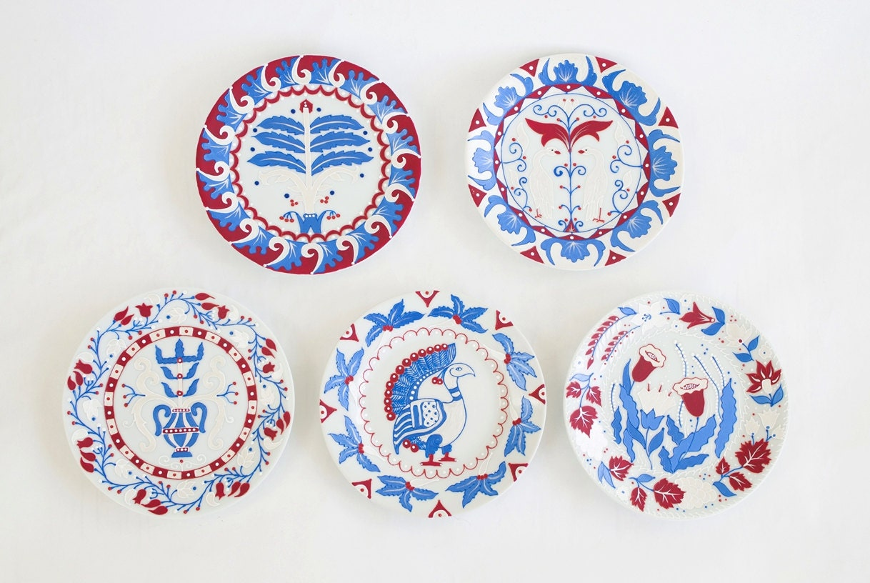 Blue Decorative Wall Plates Unique Plate Set Byzantium Decorative Plates Wall Plates Wall 2018