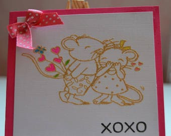 Map of St. Valentine's day XOXO love mouse