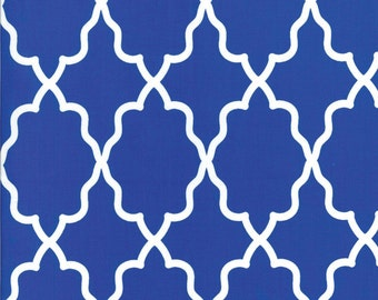 Moroccan Lattice Cobalt for Michael Miller, 1/2 yard