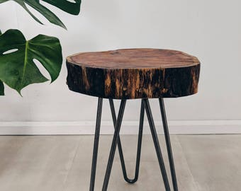 Wood slab table | Etsy