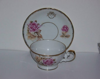 Bone China Norleans Cup and Saucer Made in Japan