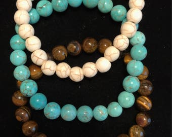 Turquoise/Brown Stack