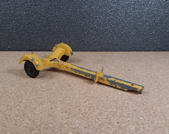 Hubley Kiddie Toy Boat Trailer Vintage Yellow Pressed Steel Toy Vehicle Accessory