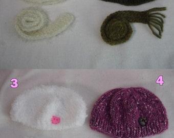 Scarf Hat Bonnet Set Pullip Blythe Puppe Doll 1/6 Winter