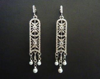 Art Deco Earrings Bridal Earrings Wedding Earrings Great Gatsby Earrings Art Nouveau Earrings Boho Earrings Gypsy Earrings Downton Abbey