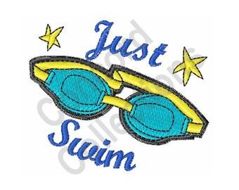 Swimming Goggles - Machine Embroidery Design
