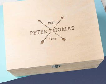 Personalised Men's Arrow Keepsake Box