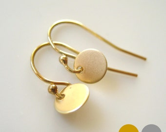 Tiny Disc Earrings- Tiny Disk Earrings- Tiny Gold Disc Earrings- Tiny Silver Disc Earrings- Gold Disk Earrings- Silver Disk Earrings- EGS-D1