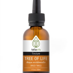 Organic Thuja OR Tree of life Tincture, Liquid Extract, (Thuya occidentalis) 1 fl. Oz / 30 Ml - Top Quality, maximum Strength