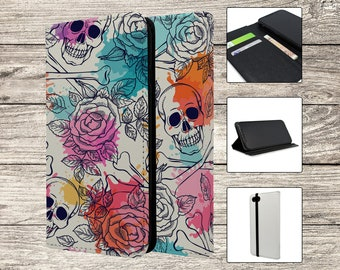 Skulls and Flowers Full Flip Case For Apple iPhone (S2777)