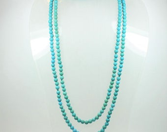 A Beautiful Spherical Turquoise Beaded Necklace