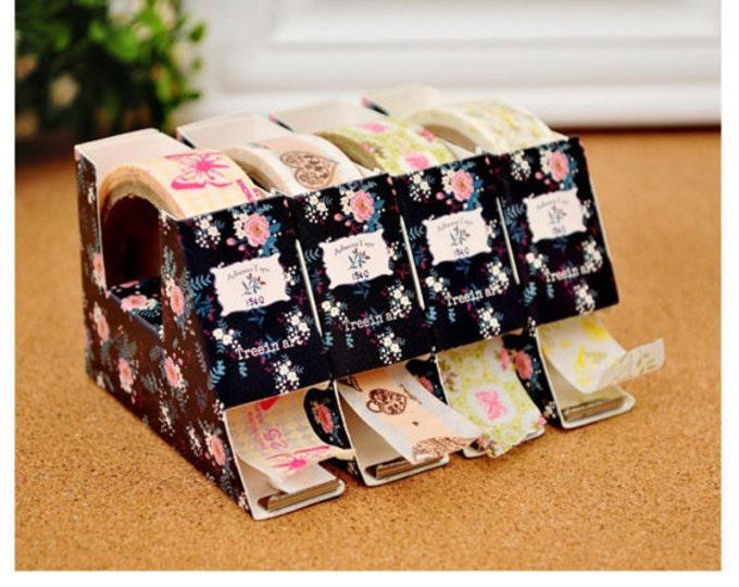 SALE Washi Kawaii Adhesive Washi Paper Tape & Dispenser Box - 1 roll - Scrapbook Agenda Planner Stickers Photo