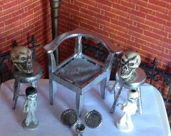 Silly  Skulls Miniature Halloween Altar Accessories