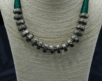 Green Woven Necklace