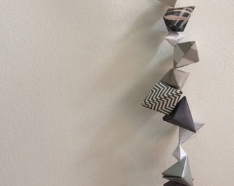 Origami Wall Hanger || Grey Geometric