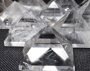 Best Natural Clear Crystal Quartz Pyramid/Crystal Pyramid/Quartz Pyramid/Chakra/zen/Meditation/Good luck/Energy-1 point