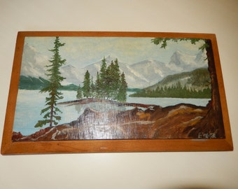 ANTIQUE PAINTING on WOOD Panel
