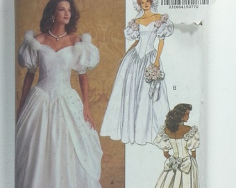 Butterick 6518 Misses Wedding Dress sewing pattern 1992 Sizes 12 14 16