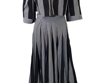 FRANK GROVERS Black Skirt Suit (UK 2)