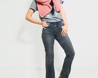 chunky oversized knit scarf/ Infinity knit scarf/ knitted scarf/ alpaca knit scarf/ pink knit scarf/ SALE/ Scarf