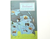 Vintage Book / Holland History Guide / Around the World Program / Geography Book / Homeschool Reference