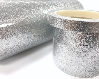 Metallic Silver Glitter Tape, Sheet or Roll, High Tack, choose your size