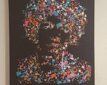 Jimi Hendrix Original Acrylic Painting