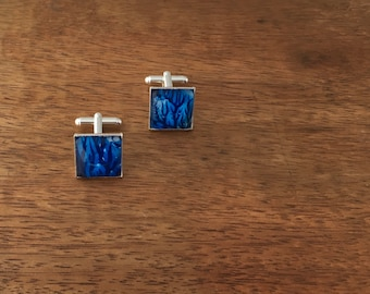 Blue Branches cufflinks