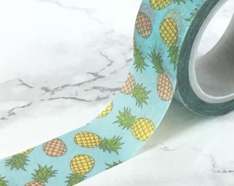 Pineapple Washi Tape - Pineapple Washi - Pineapple planner tape - Pineapple Planner Washi - Pineapple Tape - Miami Tape