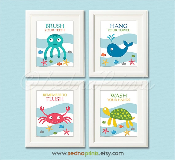 852 Bathtub Data Base Emails Contact Us Hk Mail: Bathroom Art Print Set 5X7 Kids Bathroom Wall Decor