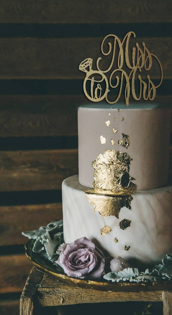 Bridal Shower Cake, Bridal Shower Decor, Miss to Mrs Cake Topper, Bridal Shower Cake Topper, Rose Gold Glitter Cake Topper, Cake Topper