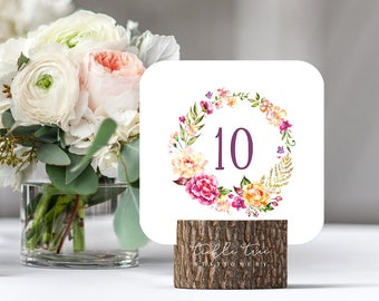 Venice in Bloom - Table Numbers (Style 13783)