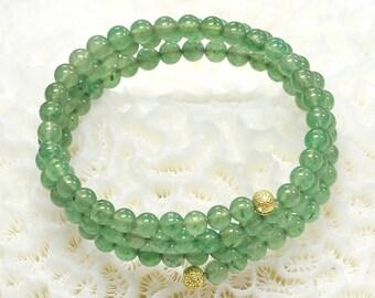Natural aventurine bracelet green aventurine gemstone bracelet healing crystal 1066