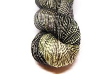 "Fingering Weight, ""Trampled Under Foot"" Merino Wool Superwash Yarn, 4 oz, machine washable yarn"