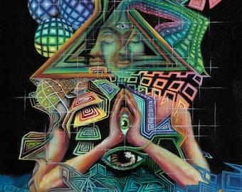 The Awakening of the Self - fine art print by EmJae Lightningbug