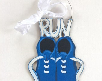 Runner Ornament - marathon ornament - runner gift - running shoes ornament - personalized Christmas ornaments - tennis shoes - sneakers