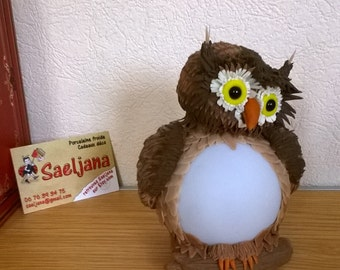 Night light led saeljana cold porcelain OWL. OWL. Lamp of atmosphere. Child's room. Birth gift. Birthday. Nature.