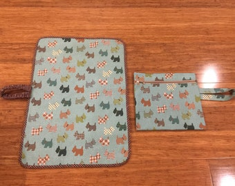 Waterproof Nursery Set - Nappy Bag & changing Mat