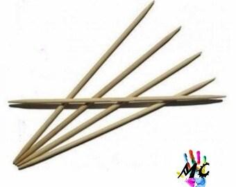 5 double needle tips bamboo