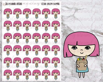 Grocery, Shopping, Celine Stickers, Hand Drawn, Planner Stickers, Hand Drawn Stickers