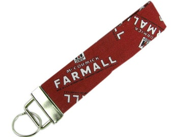 Personalized Key Chain / Key Fob Farmall With Optional Initials