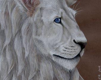 White Lion Original Drawing