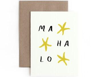Mahalo Greeting Card / Thank You / Made in Hawaii