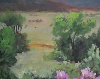 Rayado Summer Valley View - Philmont - New Mexico - Original Oil Landscape Painting