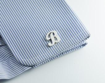 Personalized Cufflinks, Father's day gift, Initial Cufflink, Groom Wedding Cufflinks -Letters Cufflinks - Men Cufflinks - Initials Cufflinks