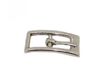 Loop leather buckle, belt, shown for leather 10 mm