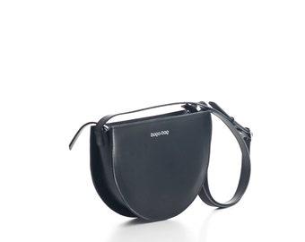 Black crossbody bag, leather purse, small shoulder bag, cross body bag, crossbody purse, black leather bag, cross body purse, crossbody