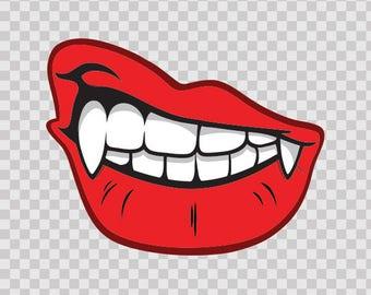 Decals Sticker Vampire Dracula Smile Motorbike Hobbies 12224
