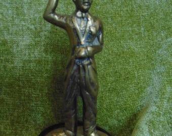 Vintage brass Charlie Chaplin figure